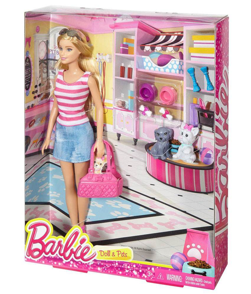 Set Barbie Doll   Pets. Barbie Doll   Pets Set   Buy Barbie Doll   Pets Set Online at Low