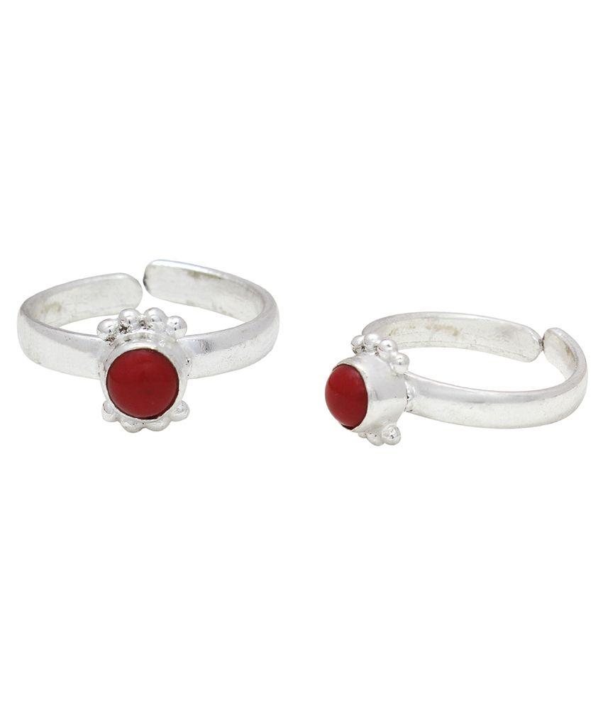 Bhavika Silver German Silver Toe Ring