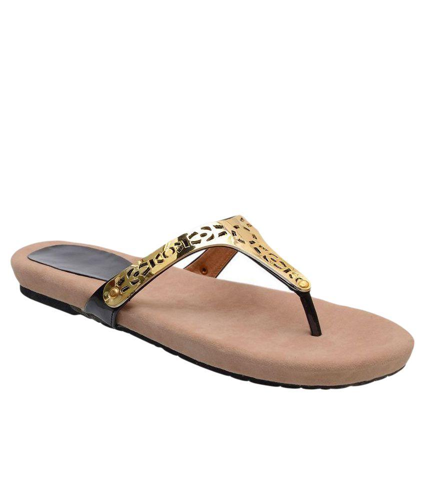 Jasmine Beige Flat Slip-on & Sandal