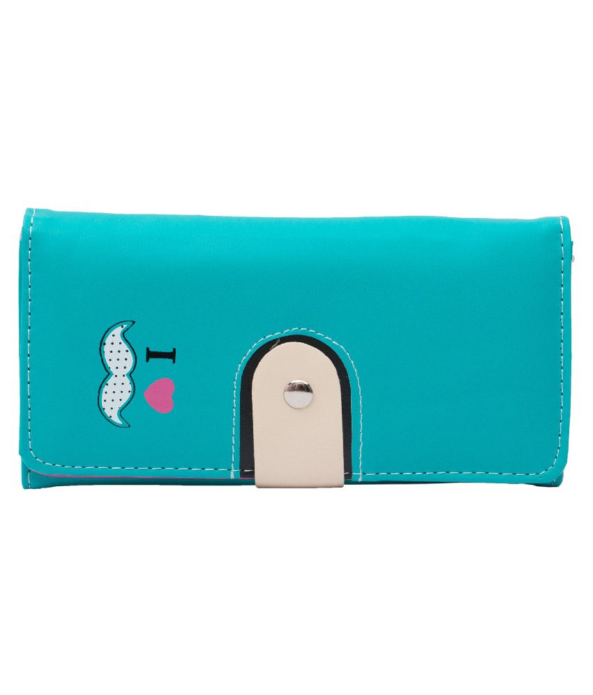 Mark Louis Blue PU Wallet for Women
