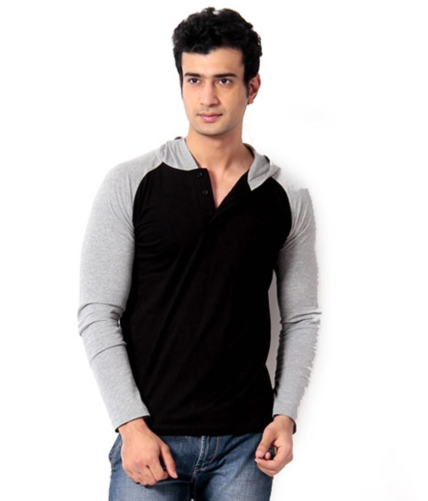 Black t shirt low price - Leana Black Cotton T Shirt
