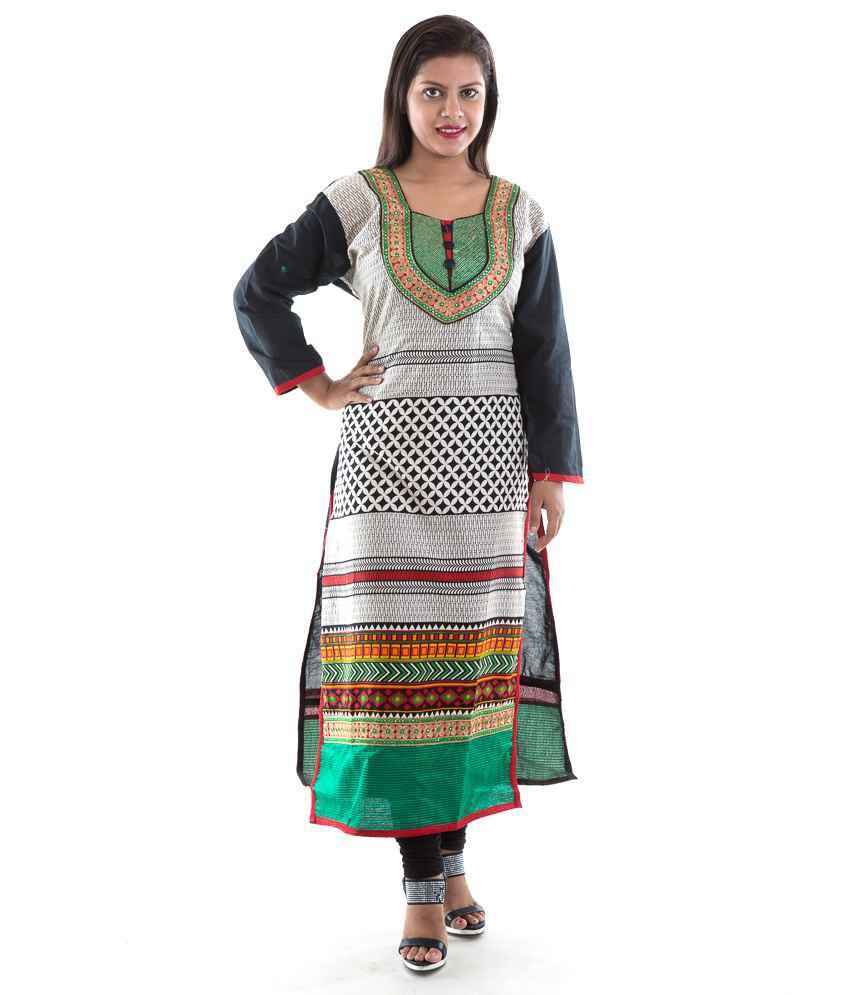Shraddha Dresses Multi Color Straight Cotton Kurti