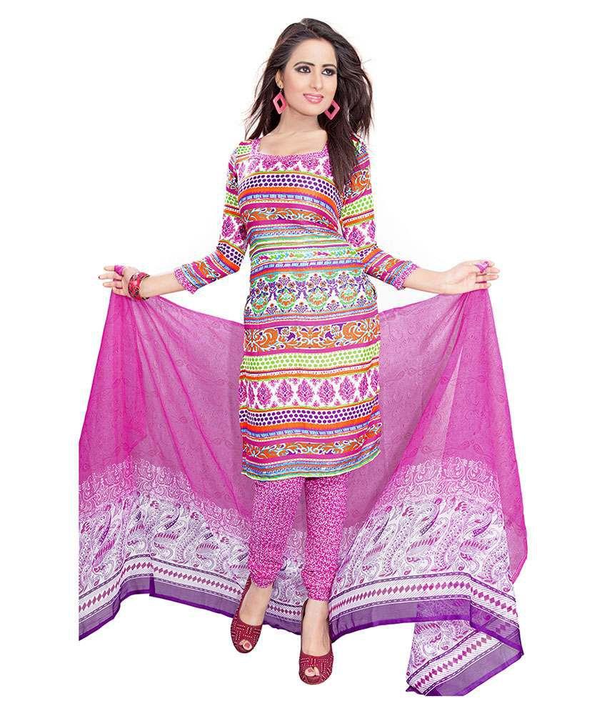 Women Latest Fancy Designer Salwar Suit Multicoloured Crepe Straight Unstitched Dress Material