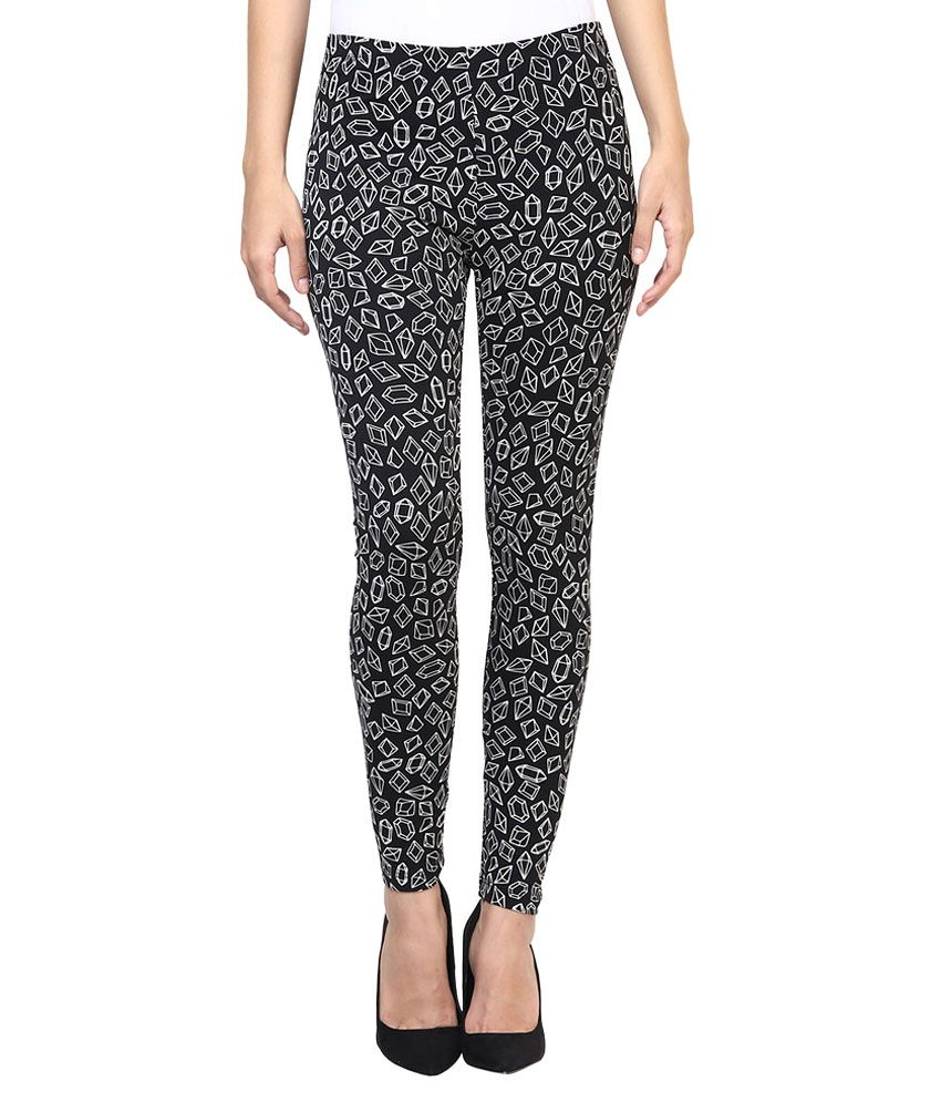 7011eacb6 Buy Candies By Pantaloons Black Printed Leggings Online at Best Prices in  India - Snapdeal
