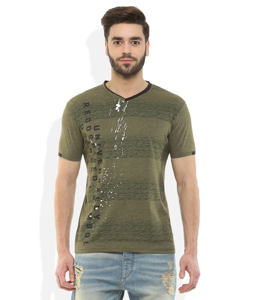 Fort Collins Green V-Neck T Shirt