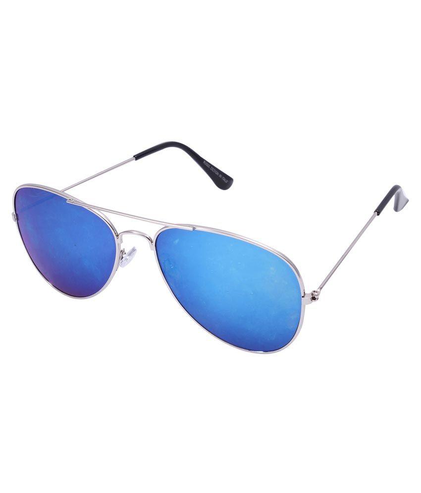 Lens Blue Aviator Sunglasses