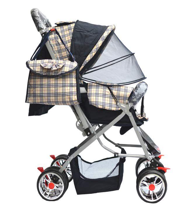 Taaza Garam British Plaid Check Design Baby Pram Stroller With ...