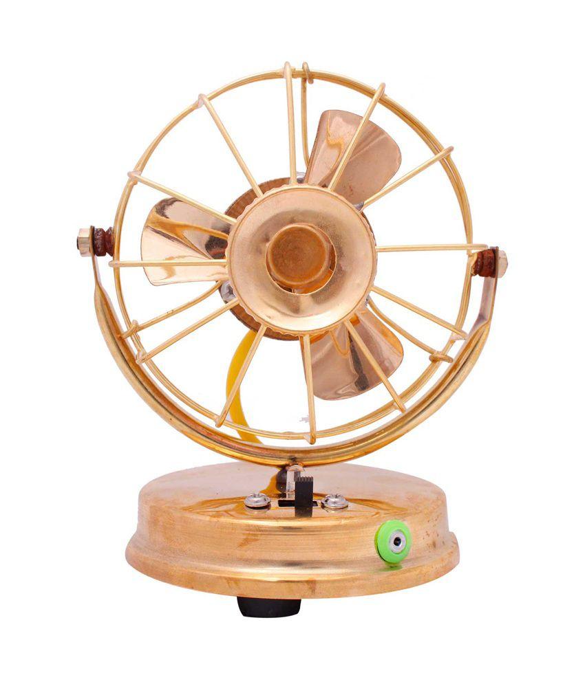 Shree Mangalam Mart Brass Pure Decorative Electric Table Fan