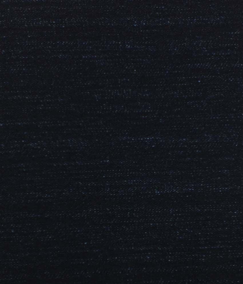 Arvind Navy Blue Cotton Denim Unstitched Jeans Fabric