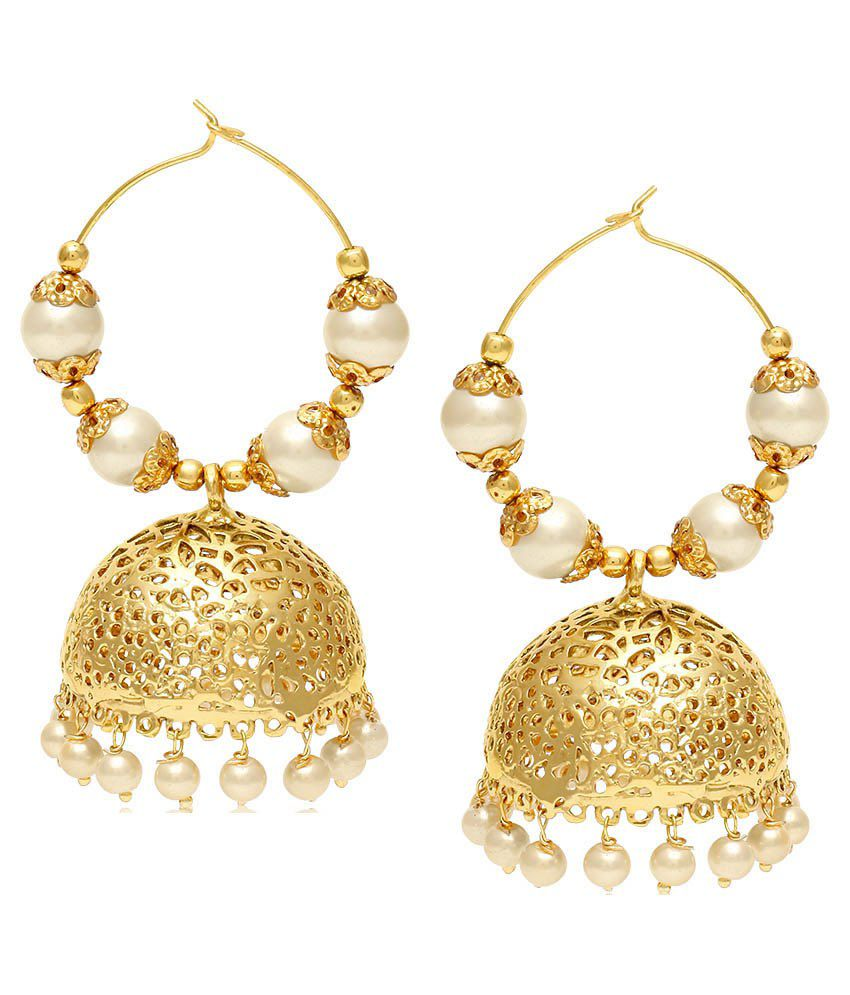 Jewels Galaxy Pearl Jhumkis