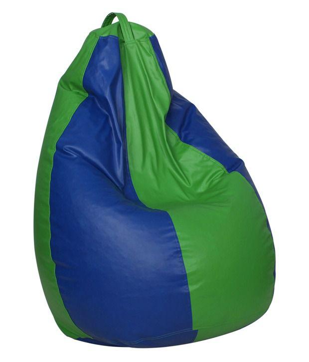Stupendous Sattva Classic Xxl Bean Bag Cover Without Beans Royal Blue Neon Green Buy Sattva Classic Xxl Bean Bag Cover Without Beans Royal Blue Machost Co Dining Chair Design Ideas Machostcouk