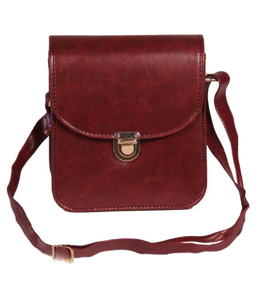 Blossom Maroon P.U. Sling Bag