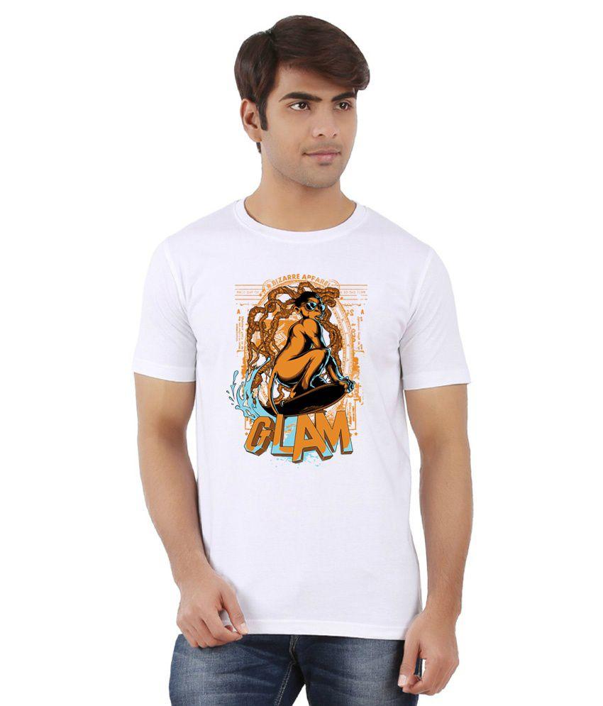 Dealnearn White Round T Shirts
