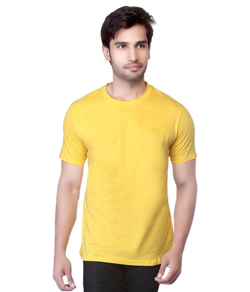 LUCfashion Yellow Round T Shirts