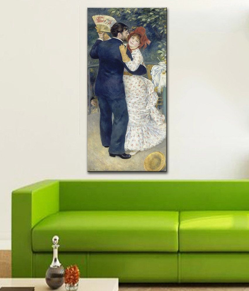 Tallenge A Dance in the Country By PierreAuguste Renoir Rolled Canvas Art Print