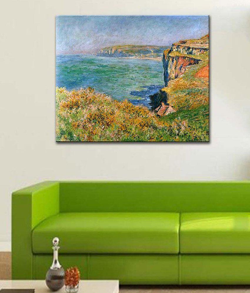 Tallenge Cliffs at Varengeville By Claude Monet Gallery Wrap Canvas Art Print