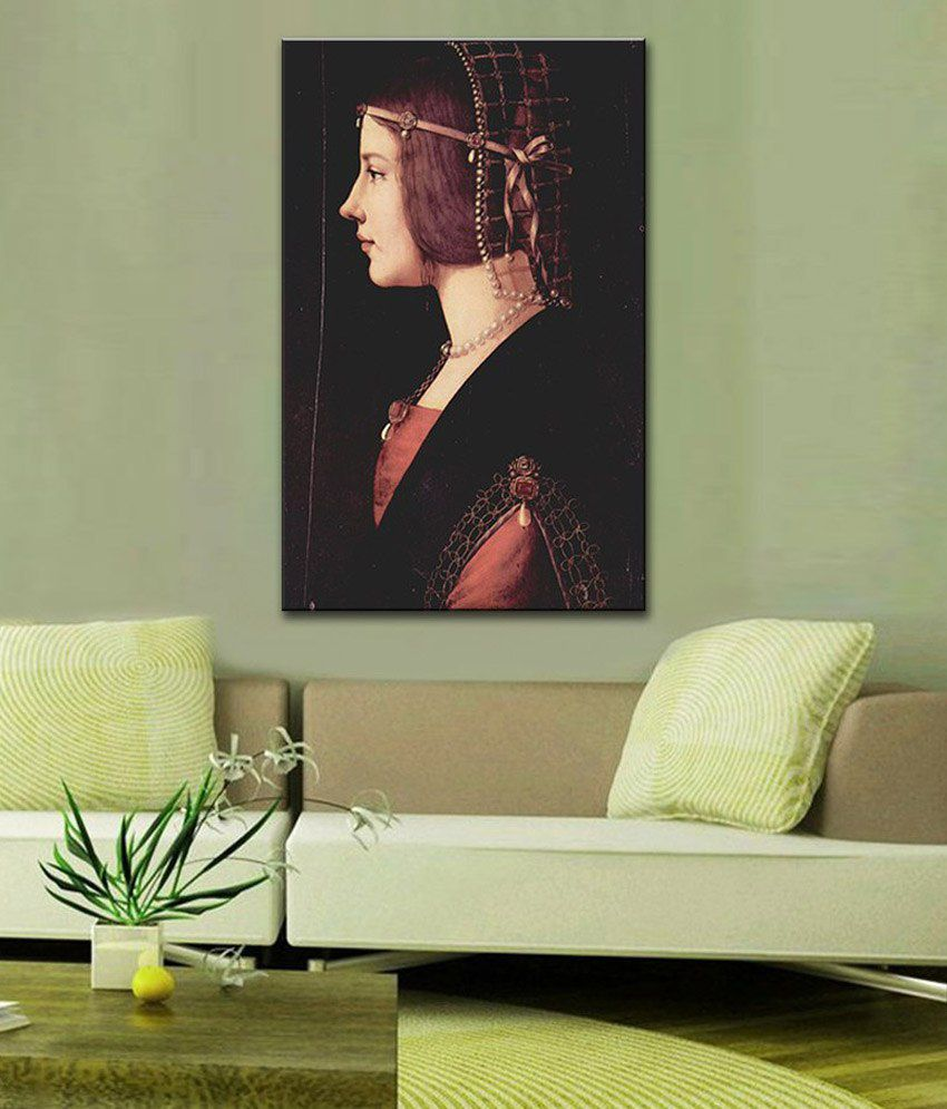 Tallenge Lady Beatrice D'Este By Leonardo da Vinci Rolled Canvas Art Print