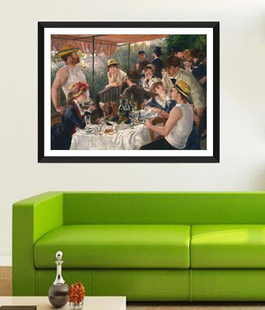 Tallenge Luncheon of the Boating Party By PierreAuguste Renoir Framed Art Print