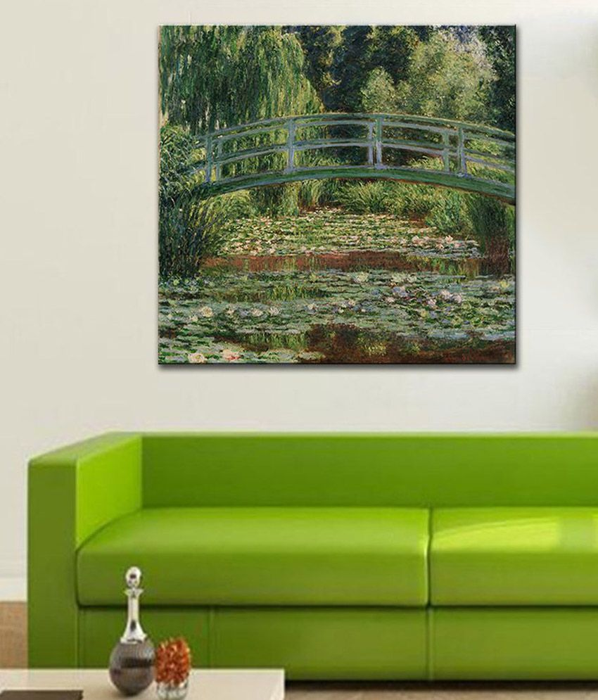 Tallenge The Japanese Footbridge, Giverny By Claude Monet Gallery Wrap Canvas Art Print