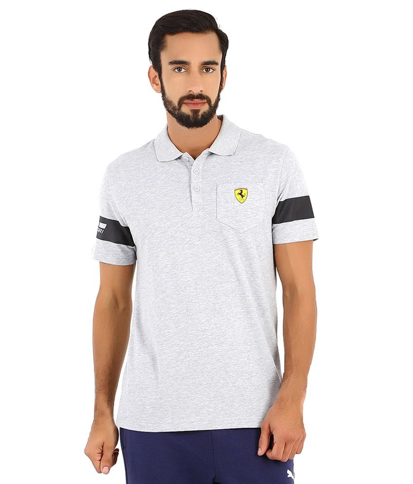 Puma Gray SF Polo T Shirt