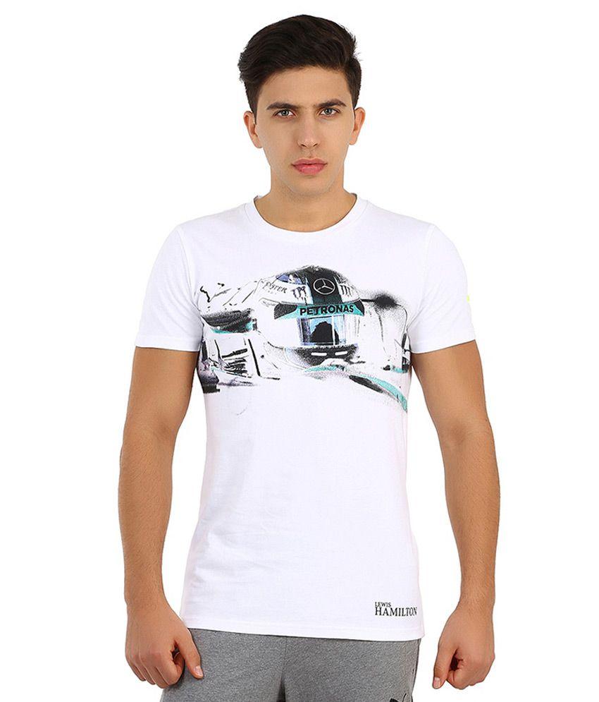 Puma White Mercedes AMG Petronas T Shirt