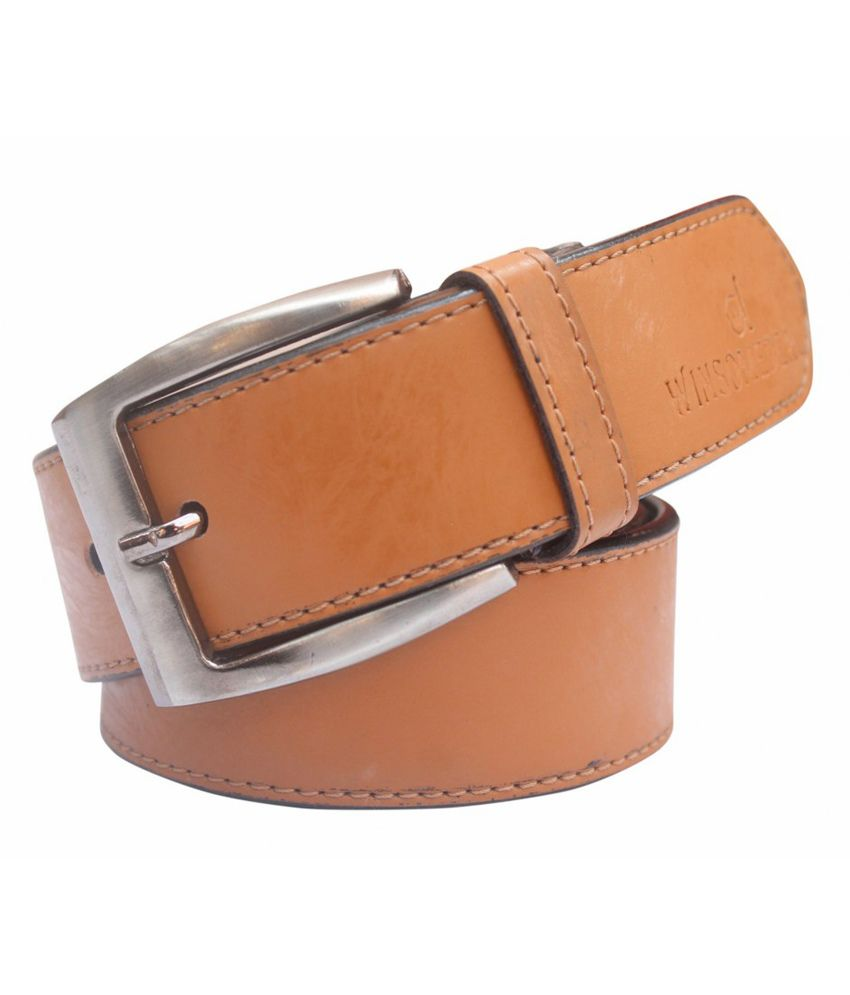 Winsome Deal Tan Casual Non Leather Belt for Men