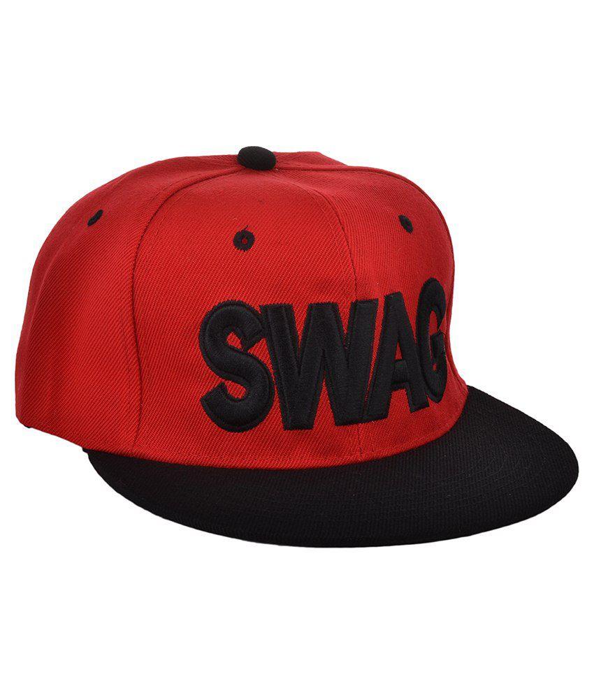 Ice Dragon Red & Black Polyester Baseball Cap