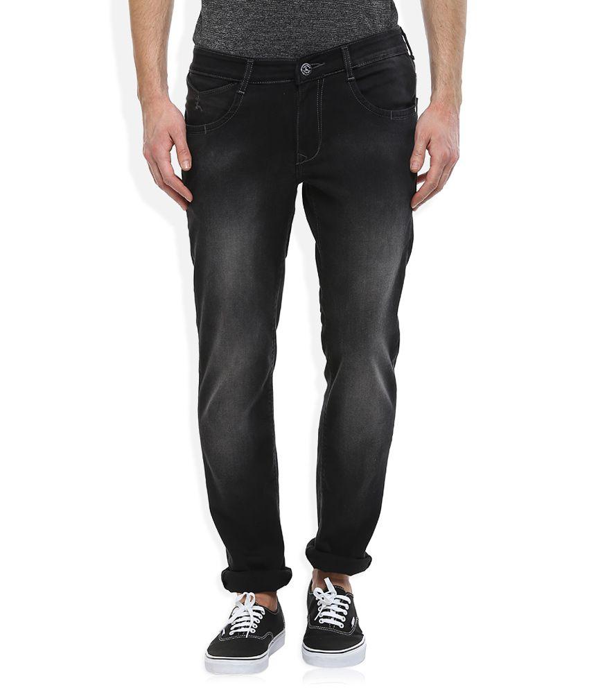 Parx Black Slim Fit Jeans