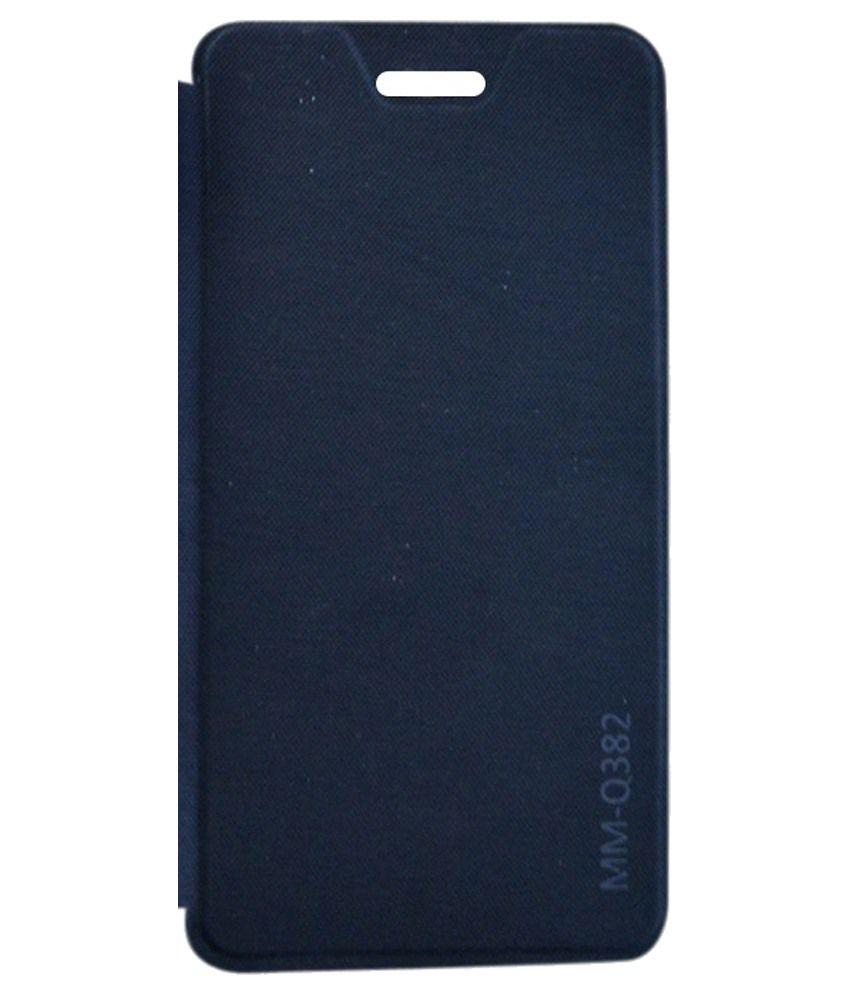 RDcase Flip Cover For Micromax Canvas Juice 4 Q382-Black