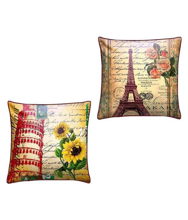 Royalina Multicolor Velvet Cushion Covers - Set Of 2