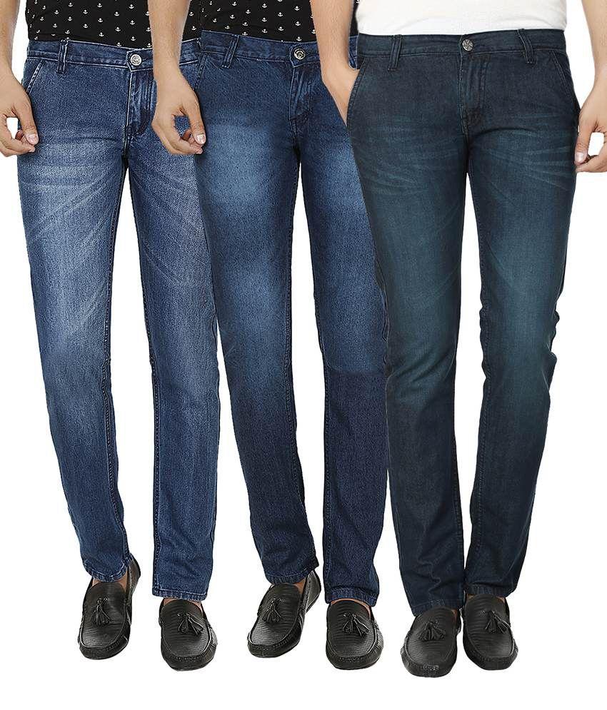 Ben Carter Blue Slim Fit Jeans Pack of 3