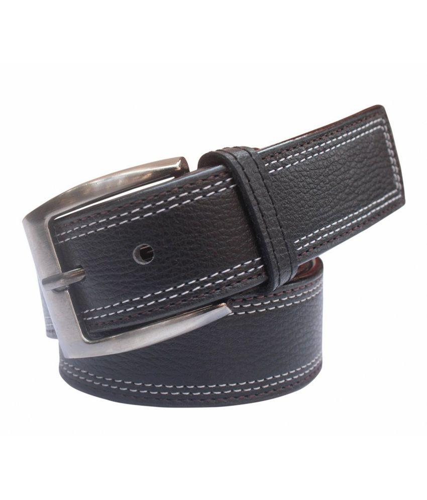 Winsome Deal Black Formal Non Leather Belt for Men