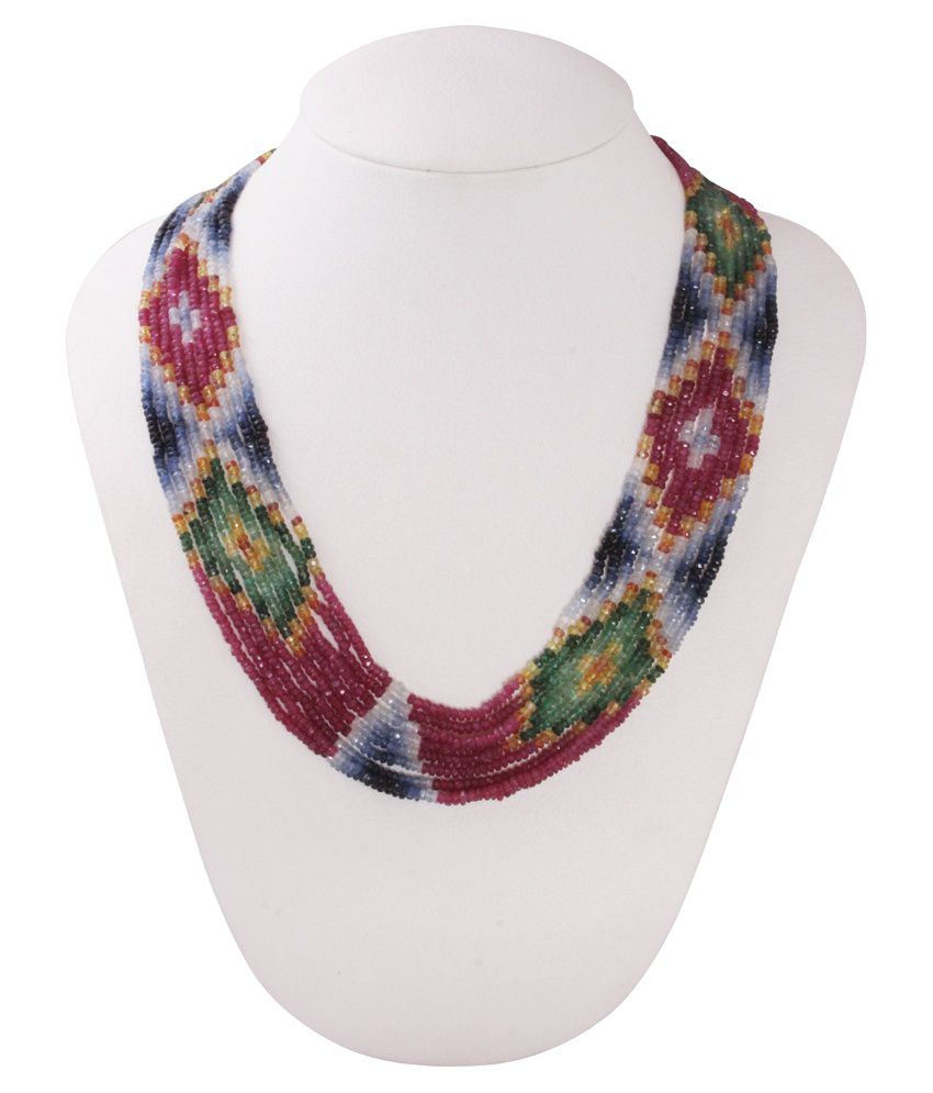 Gemsshop Multicolor Precious Gems Necklace
