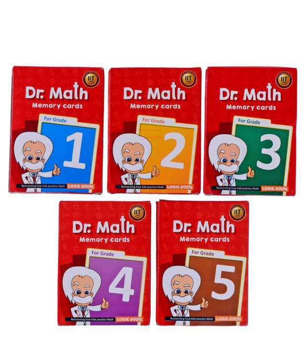 Dr Math (Grade 2) - Memory Flash Cards for Class 2 for Concepts, Clarity and Recall