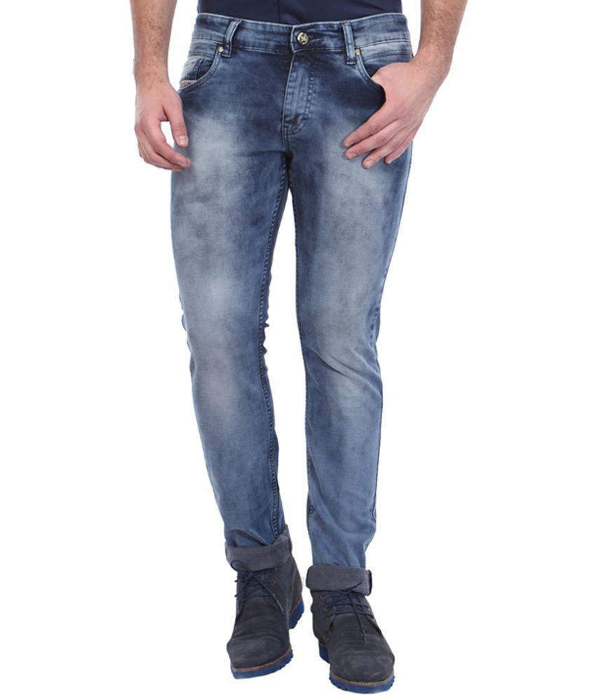 Vintage Blue Skinny Fit Jeans