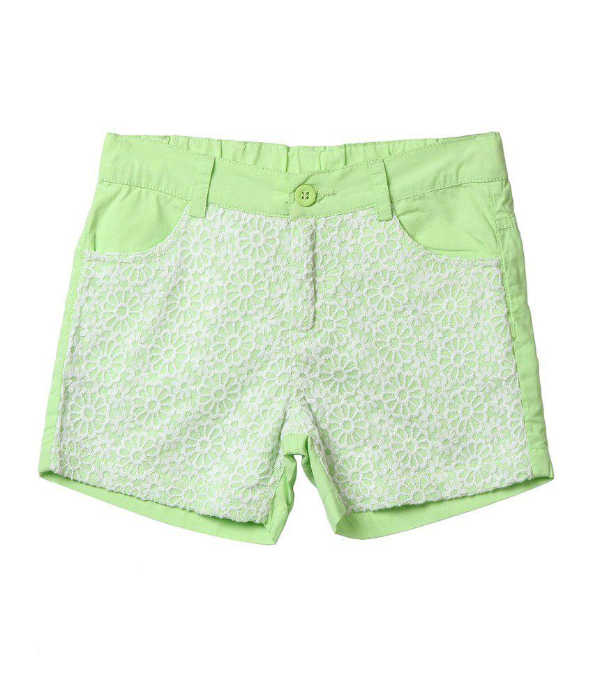 Beebay Green Cotton Short