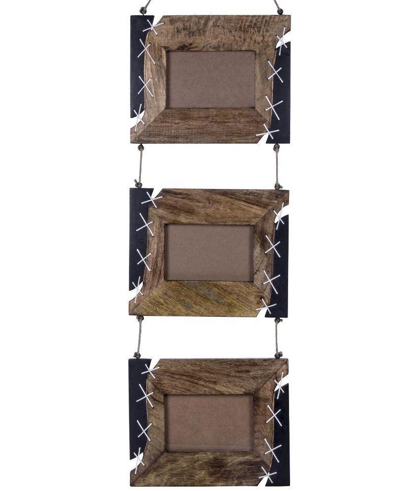Craft Art India Handmade Wooden Wall Hanging / Mounting Photo Frames ...