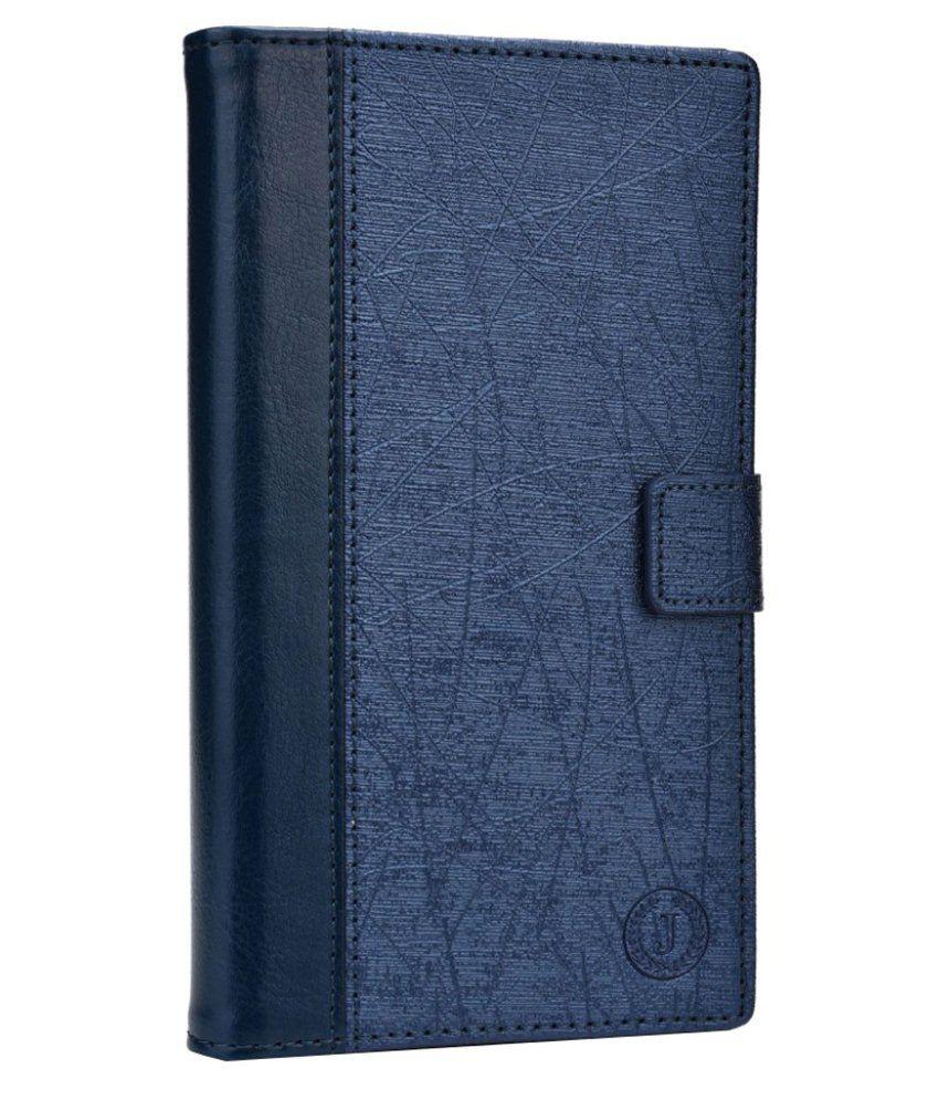 Jo Jo Leather Flip Cover For Microsoft Lumia 950 -Golden