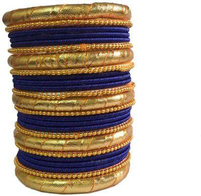 Kuhuk Golden and Blue  Designer Bangle Set