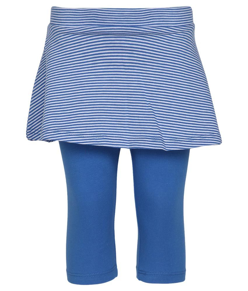 United Colors of Benetton Blue Skirt With Attached Leggings
