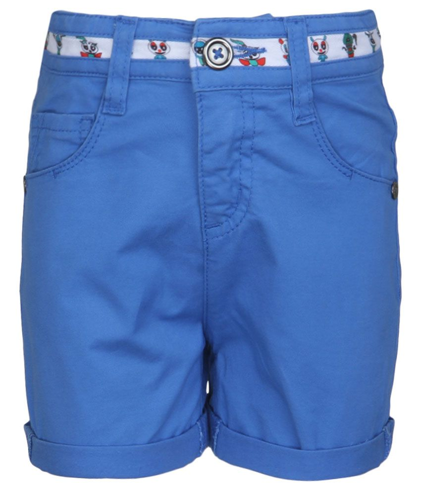 United Colors of Benetton Blue Solid Shorts