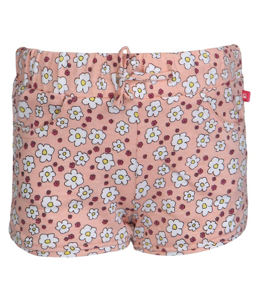 United Colors of Benetton PeachPuff Floral Printed Shorts