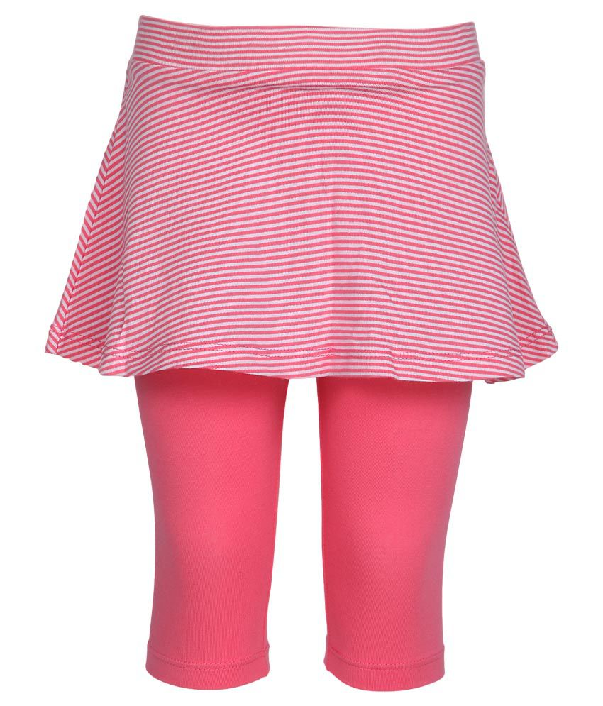 United Colors of Benetton Pink Skirt With Attached Leggings