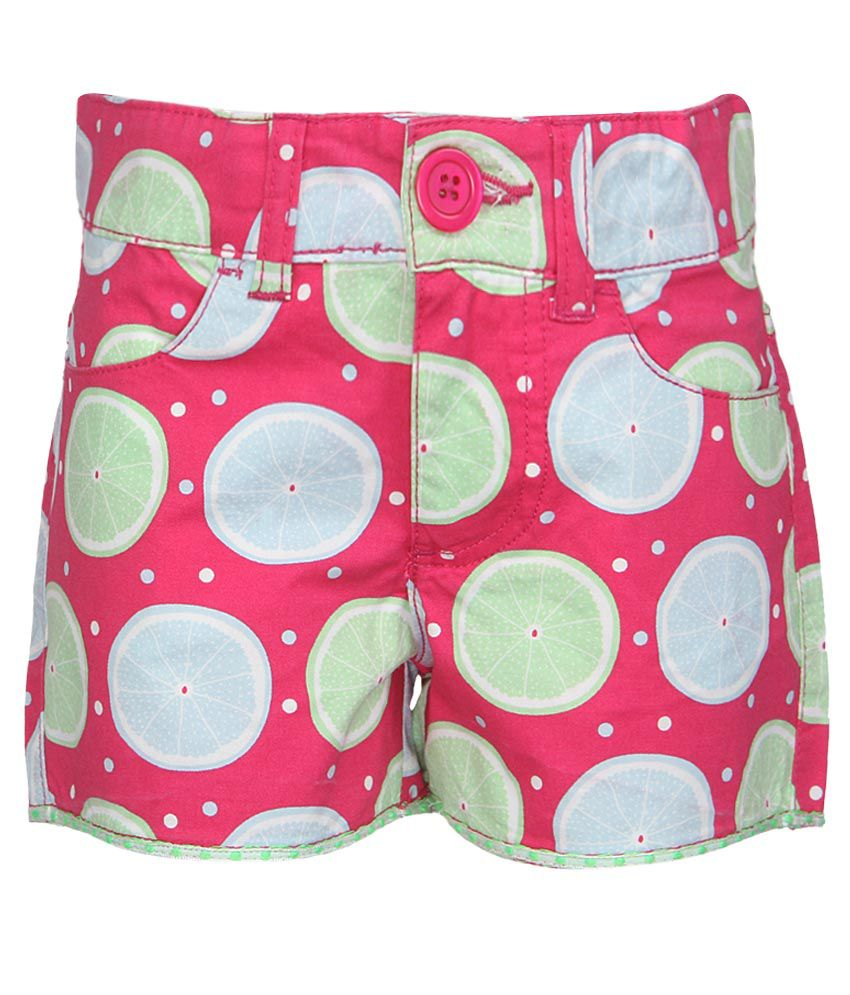 United Colors of Benetton Pink Printed Shorts
