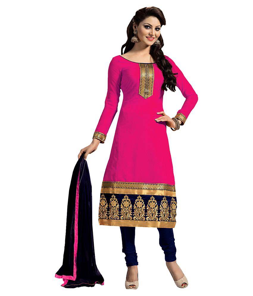 9744cf676 Women Latest Fancy Designer Salwar Suit Red Chanderi Straight Unstitched  Dress Material - Buy Women Latest Fancy Designer Salwar Suit Red Chanderi  Straight ...