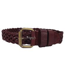 Revo Brown Leather Belt for Women