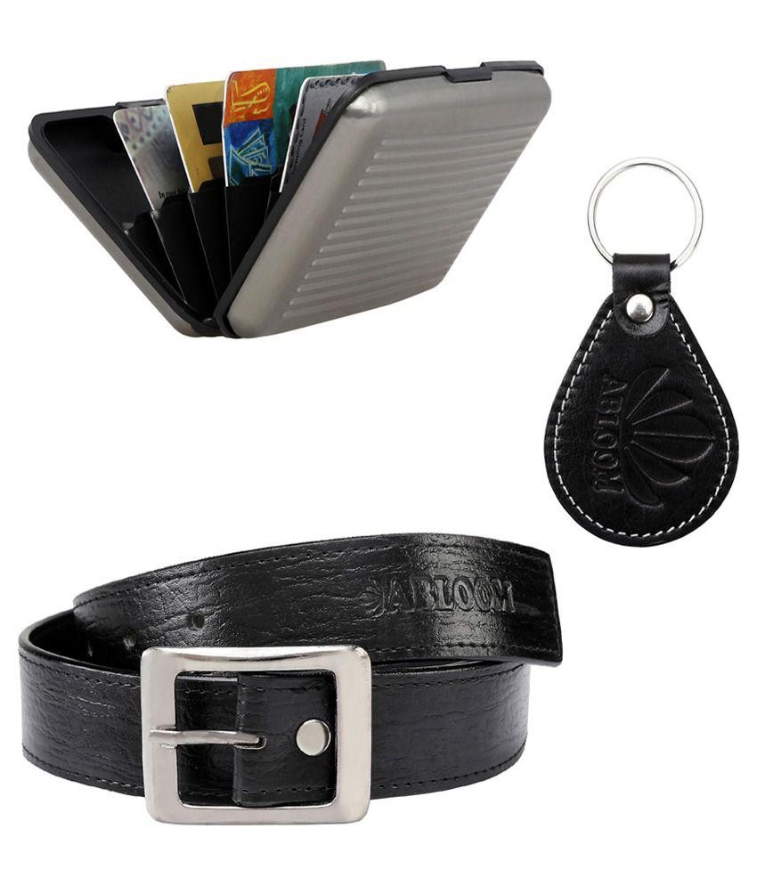 Abloom Black PU Casual Belts