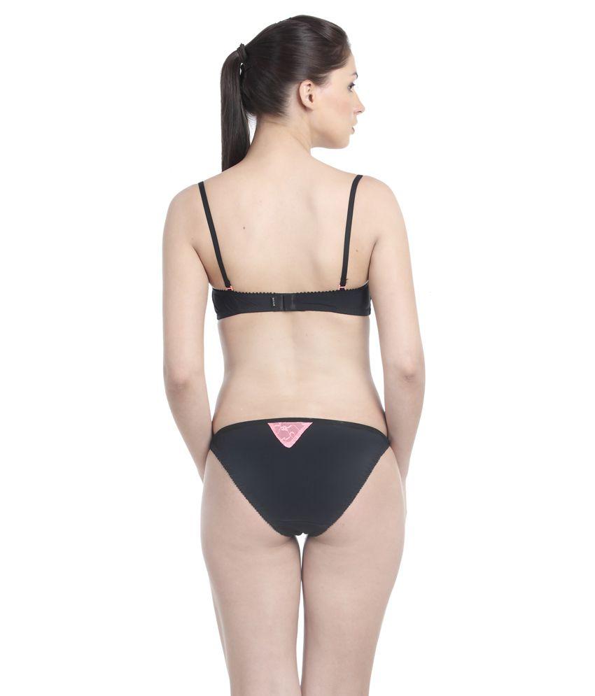e51f4ea2ae Buy Little Lacy Orange Nylon Spandex Bra   Panty Sets Online at Best ...