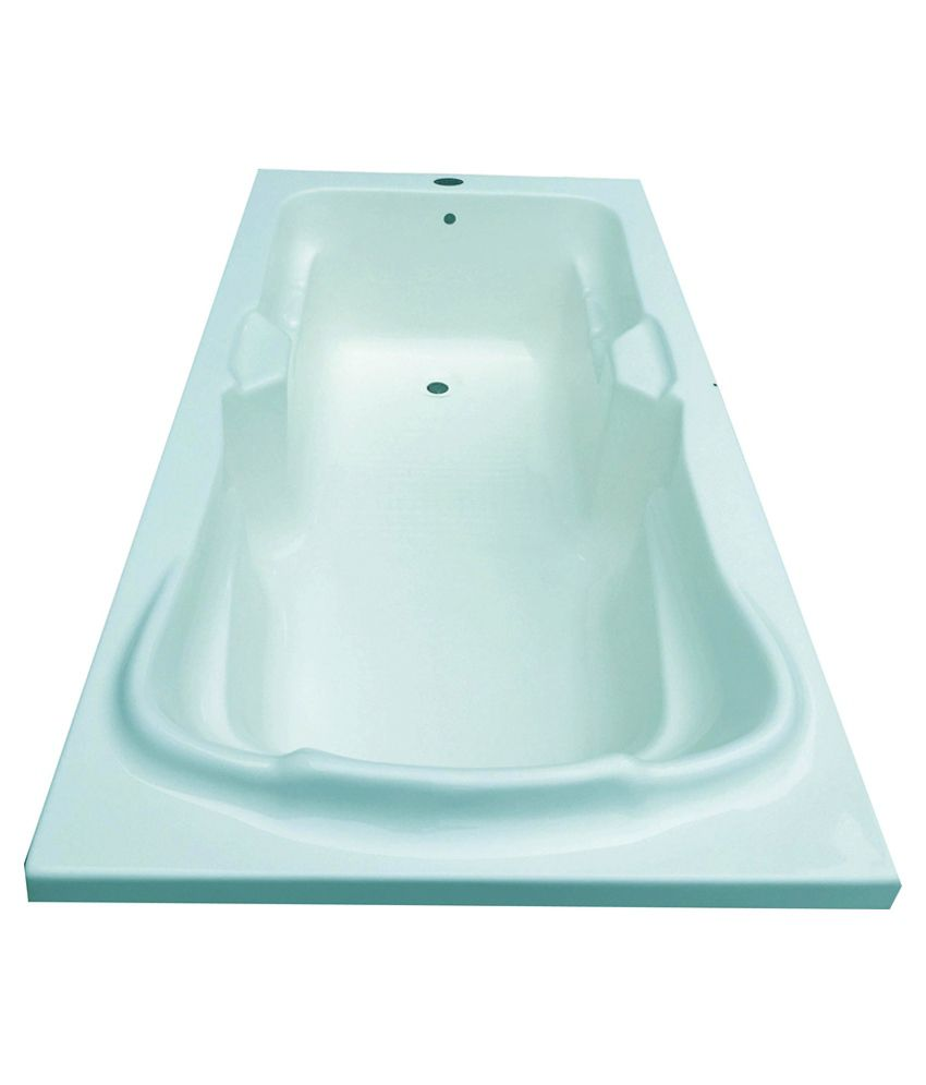 Buy Madonna Elegant Acrylic Fixed Bathtub - Cyan Blue Online at Low ...