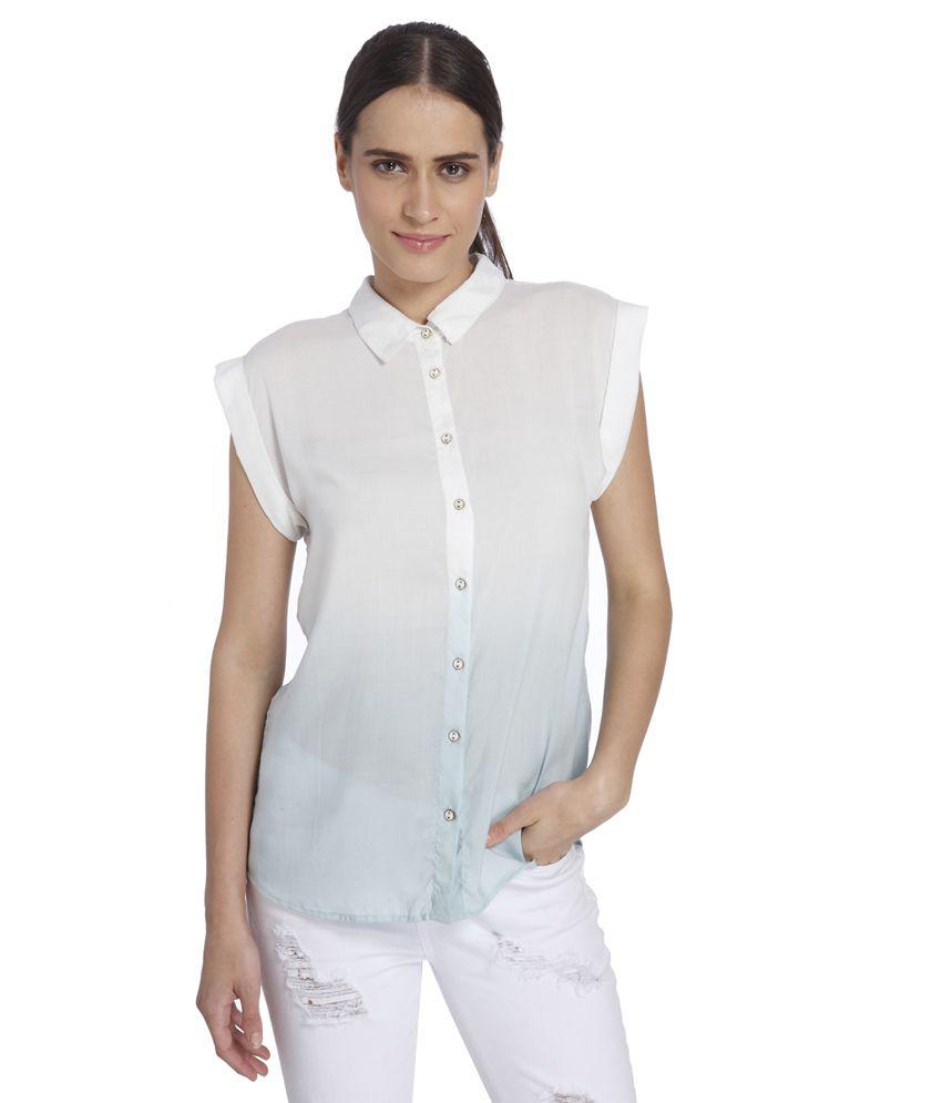 Vero Moda White & Blue Shirt
